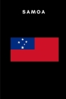 Samoa: Country Flag A5 Notebook to write in with 120 pages Cover Image