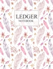 Ledger Notebook: 3 Column Ledger Transaction Register Personal Balance Columns Record-Keeping Books, Paper 100 pages Sheets Cover Image