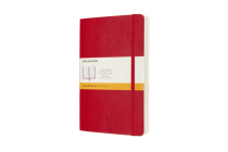 Moleskine Notebook, Expanded, Large, Ruled, Scarlet Red, Soft Cover (5 x 8.25) Cover Image