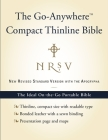 NRSV Go-Anywhere Compact Thinline Bible with the Apocrypha (Bonded Leather, Navy Cover Image