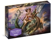 """Boris Vallejo Fearless Rider 1,000-Piece Puzzle: for Adults Fantasy Dragon Gift Jigsaw 26 3/8"""" x 18 7/8"""" Cover Image"""