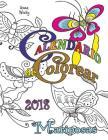 Calendario de Colorear 2018 Mariposas Cover Image