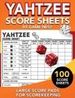Yahtzee Score Sheets: 100 Large Score Pads for Scorekeeping - 8.5