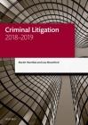 Criminal Litigation 2018-2019 Cover Image