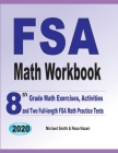 FSA Math Workbook: 8th Grade Math Exercises, Activities, and Two Full-Length FSA Math Practice Tests Cover Image
