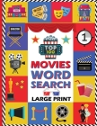 Top 100 Movies Word Search Book: Large Print Word Search Puzzles For Adults and Seniors. The Best Movies of the 21st Century. Find a Word Puzzles Book Cover Image