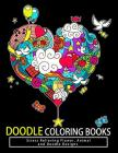 Doodle Coloring Books: Adult Coloring Books: Relax on an Intergalactic Journey through the Universe and Cute Monster Cover Image