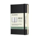 Moleskine 2021-2022 Weekly Planner, 18M, Pocket, Black, Hard Cover (3.5 x 5.5) Cover Image