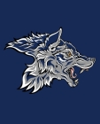 Blue Spirit Wolf Composition Notebook: Show your Pack Pride for School, Home, or Office Cover Image