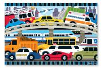 Traffic Jam Floor Puzzle 2'x3' (24 Pc) Cover Image