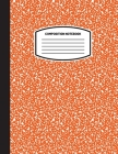 Classic Composition Notebook: (8.5x11) Wide Ruled Lined Paper Notebook Journal (Orange) (Notebook for Kids, Teens, Students, Adults) Back to School Cover Image