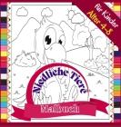 Niedliche Tiere Malbuch für Kinder Alter 4-8: Lustiges Ausmalbuch zum Ausmalen von Bauernhof- und Wildtieren, 72 Seiten Cover Image