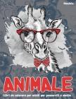 Libri da colorare per adulti per pennarelli e matite - Mandala - Animale Cover Image