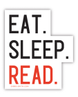 Eat Sleep Read (Sticker) Cover Image