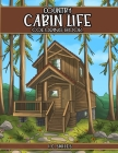 Country Cabin Life Coloring Book Cover Image