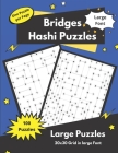 Hashi Puzzles: Bridges and Islands Puzzles for adults and seniors Cover Image