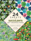 Succulents Gift Wrapping Paper - 24 Sheets: High-Quality 18 X 24 (45 X 61 CM) Wrapping Paper Cover Image