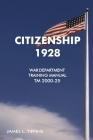 Citizenship 1928: War Department Training Manual Cover Image