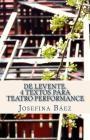 De Levente. 4 textos para teatro performance Cover Image