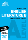Letts A-Level Revision Success – AQA A-Level English Literature B Practice Test Papers Cover Image