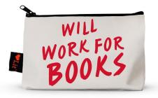Will Work for Books Pencil Pouch Cover Image