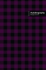 Autobiography Lifestyle Journal, Blank Write-in Notebook, Dotted Lines, Wide Ruled, Size (A5) 6 x 9 In (Purple) Cover Image
