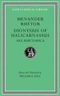 Menander Rhetor. Dionysius of Halicarnassus, Ars Rhetorica (Loeb Classical Library #539) Cover Image