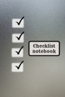 Checklist logbook for teens and adults Cover Image