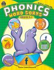 Full-Color Phonics Word Sorts: Grades K-1 Cover Image