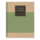 Cal 2022- Olive Kraft Teacher Academic Year Planner Cover Image