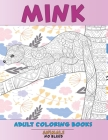 Adult Coloring Books No Bleed - Animals - Mink Cover Image