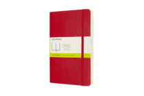 Moleskine Expanded Notebook, Large, Plain, Scarlet Red, Soft Cover (5 x 8.25) Cover Image