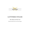 Gottfried Finger: The Music for Solo Viol: the Music for Solo Viol Cover Image