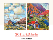 2021 New Mexico Magazine Artist Calendar Cover Image