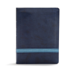 CSB Apologetics Study Bible, Navy LeatherTouch, Indexed: Black Letter, Defend Your Faith, Study Notes and Commentary, Ribbon Marker, Sewn Binding, Easy-to-Read Bible Serif Type Cover Image