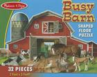 Busy Barn Shaped Floor Puzzle (32 Pieces): Busy Barn Shaped Floor Puzzle (32 Pieces) Cover Image