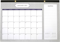 2021 Classic Desk Calendar Pad (with Stickers) Cover Image