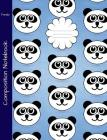 Panda Composition Notebook: Graph Paper Book to write in for school, take notes, for kids, teens, students, teachers, homeschool, panda bear cover Cover Image