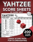 Yahtzee Score Sheets: 200 Large Score Pads for Scorekeeping - 8.5
