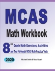 MCAS Math Workbook: 8th Grade Math Exercises, Activities, and Two Full-Length MCAS Math Practice Tests Cover Image