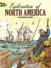 Exploration of North America Coloring Book (Dover History Coloring Book) Cover Image