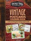 Vintage Postcards Coloring Book: Cover over the gray to bring images to life. Cover Image