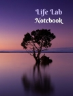 Life Lab Notebook (purple tree on water) Cover Image