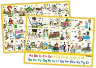 Jolly Phonics Letter Sound Wall Charts: In Print Letters (American English Edition) Cover Image