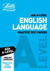 Letts A-Level Revision Success – AQA A-Level English Language Practice Test Papers Cover Image