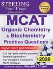 Sterling Test Prep MCAT Organic Chemistry & Biochemistry Practice Questions: High Yield MCAT Practice Questions with Detailed Explanations Cover Image
