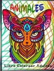 Animales Libro Colorear Adultos: 70 Mandalas Animales, libro de colorear para adultos mandalas, 70 Diseños para aliviar el estrés para la relajación d Cover Image