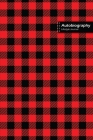 Autobiography Lifestyle Journal, Blank Write-in Notebook, Dotted Lines, Wide Ruled, Size (A5) 6 x 9 In (Red) Cover Image