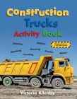 Construction Trucks Activity Book Cover Image