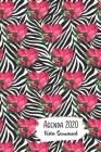 Agenda 2020 Vista Semanal: 12 Meses Programacion Semanal Calendario en Espanol Diseno Cebra Cover Image